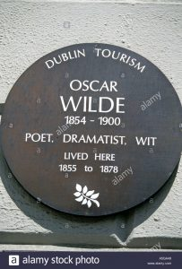 Oscar Wilde plaque, Merrion Square