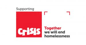 In support of Crisis logo lock up full colour