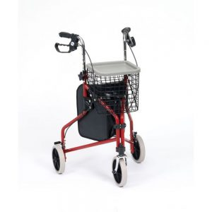 drive-tri-walker-with-bag-basket-and-tray-red