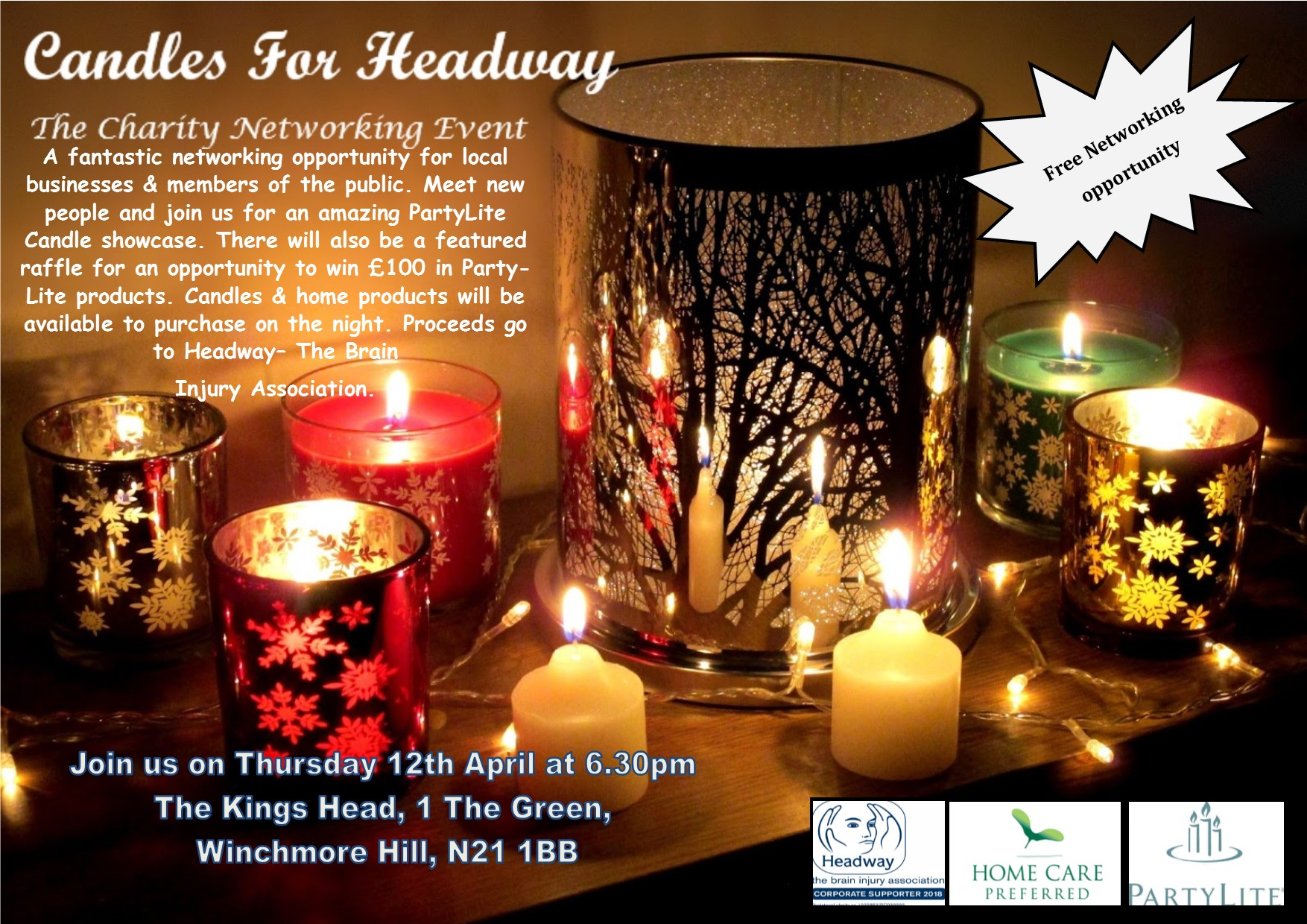 Candles for Headway poster final